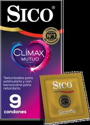 2 x Condones Sico Clímax Mutuo 9U