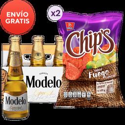 2x1 Rappicombo Cerveza Modelos Especial + Barcel Fuego