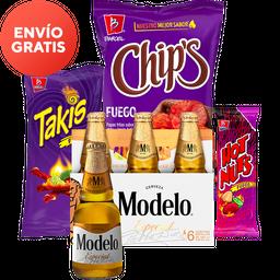 Rappicombo Cervezas Modelo + Barcel y Takis Fuego + Hot Nuts