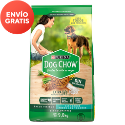 Dog Chow Cachorro Alimento Sin Colorantes Todos Los Tamaños