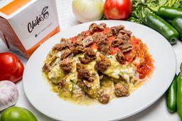 Chilaquiles Mixtos con Milanesa