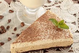 Rebanada de cheesecake capuccino