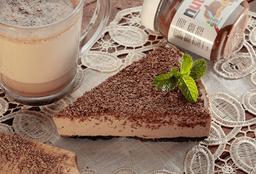 Rebanada de cheesecake nutella