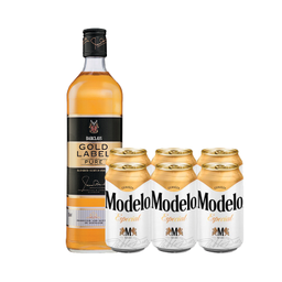 Combo Whisky Barclays Gold Label + Cerveza Modelo Especial