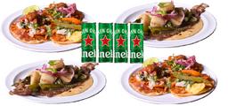 Combo Heineken Tacos