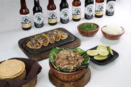 Paquete Tacos, 4 Cervezas Artesanales