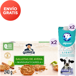 Rappicombo leche Alpura light + galletas Quaker