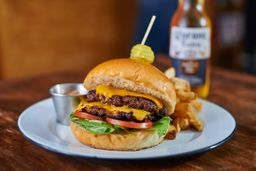 Double Yellow Cheese Burger