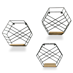 Contorno.xyz Set de Repisas Hexagonales
