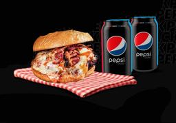 Combo Sándwich BBS  y Pepsi Black