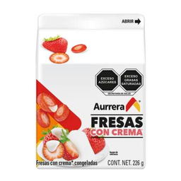 Aurrera Fresas Con Crema Congeladas