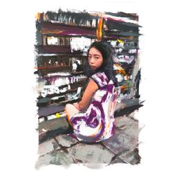 Diego Beyró Print Girl in Hong Kong 1 Sin Marco