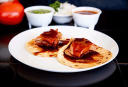 2 Tacos de Costilla Bbq