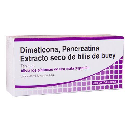 Comprar Dimeticona Pancreatina Extracto Seco De Bilis De Buey