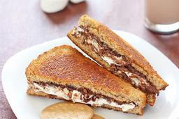 Sándwich de Nutella y Chispas de Chocolate