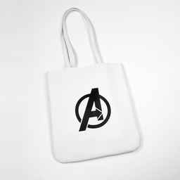 Miniso Bolsa Tote Logo Avenger Blanco Marvel