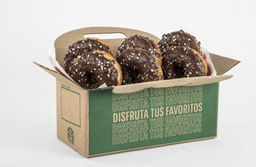 Media docena de cronuts de chocolate.
