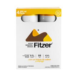 Fitzer Hard Seltzer Mango 4 Pack
