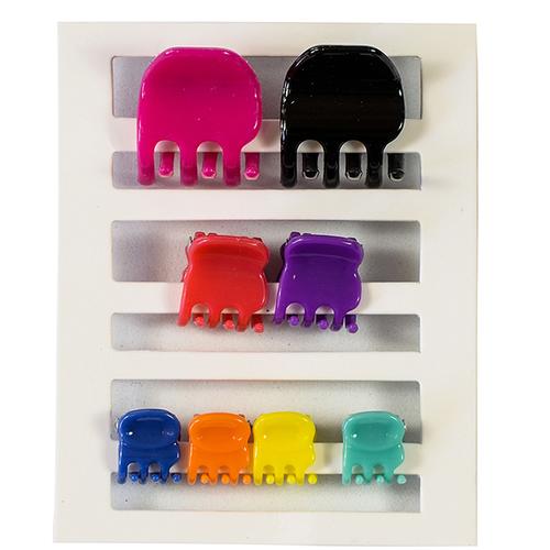 Mumuso Set de Micro Pinzas Para Cabello Multicolor