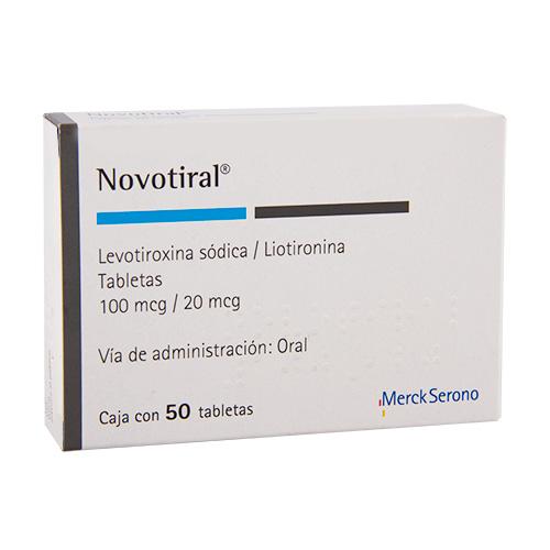 Comprar Novotiral Levotiroxina/Liotir 100/20Mcg 50Tab