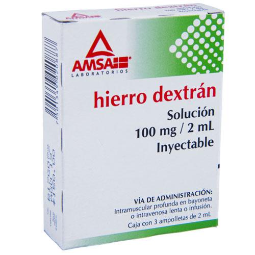 Comprar Hierro Dextran Solución Inyectable 3 U (100 Mg/2 Ml)