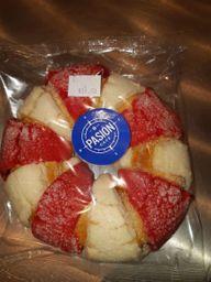 Rosca de Reyes con costra de concha
