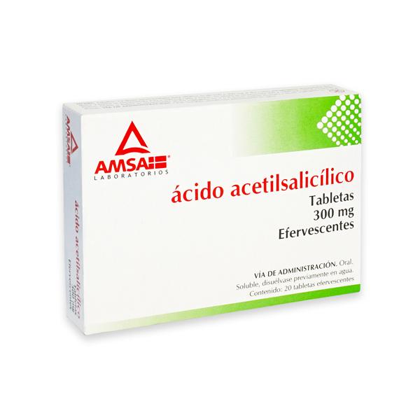 Comprar Amsa Ácido Acetilsalicílico (300 mg)