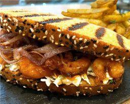 Pulled Shrimp Sandwich