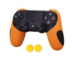 MandaLibre Funda Profesional Silicona Para Control Ps4 Naranja