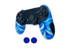 MandaLibre Funda Profesional Para Control Ps4 Azul Claro Camu
