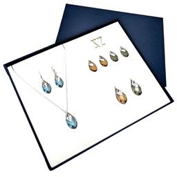 Swarovski Collar y Aretes Intercambiables de Plata 925 Zvezda