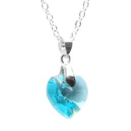 Swarovski Collar de Plata 925 Con Cristal Color Turquesa