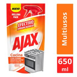 Limpiador Líquido Ajax Cocina Doypack de 650 mL