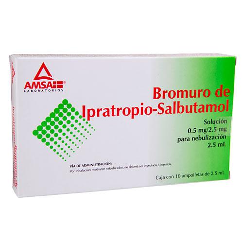 Comprar Bromuro de Ipratropio/ Salbutamol Amsa