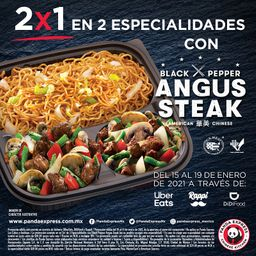 2x1 en paquete Black Pepper Angus Steak