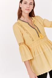 Rapsodia Camisa Grace Lace Amarillo