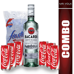Bacardi Kit Ron Blanco + Coca-Cola Refresco + Hielos