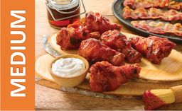 Bacon Wrapped Wings Medium
