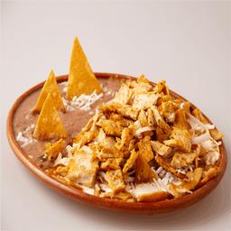 Chilaquiles con Milanesa de Pollo