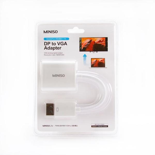 Miniso Cable Dp a Adaptador Vga Blanco 10 cm