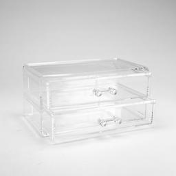 Miniso Gabinete de Pl�stico Con 2 Cajones Transparente