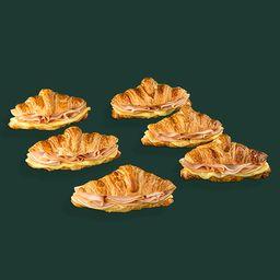 Media docena de croissants jamón y queso