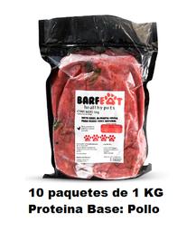 Barfeat Alimento Para Perro Crudo Pollo 10 Kilos