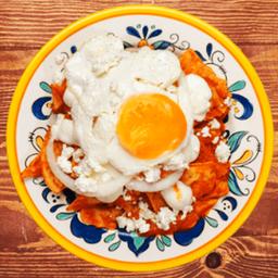 Chilaquiles de Huevo Frito