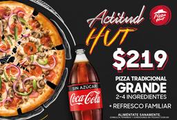 Actitud Hut Pizza Tradicional Grande