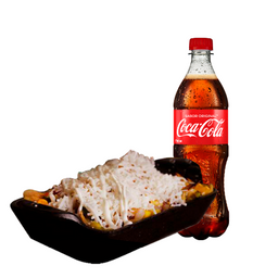 Combo Coca Cola y Chilakito con queso