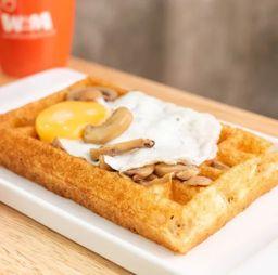 Waffle Bruselas Queso
