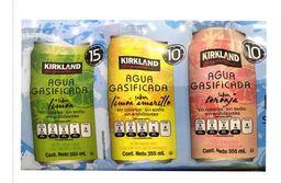 Kirkland Agua Gasificada Signature Con Sabor
