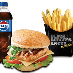 Combo Grilled Chicken Burger