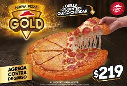 Pizza Gold (Orilla Crujiente de Queso Cheddar)